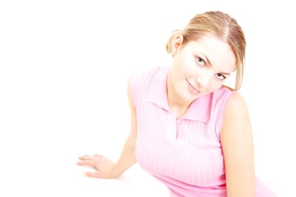 happy unmarried woman