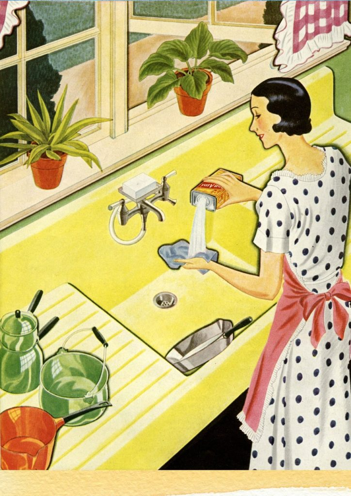 women household chores